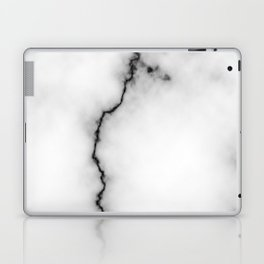 Black and white marble texture 9 Laptop & iPad Skin