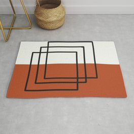 Modern Abstract Squares Rug
