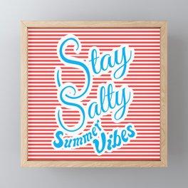 Stay Salty, Summer Vibes Framed Mini Art Print