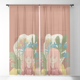 Bloom With Grace Sheer Curtain
