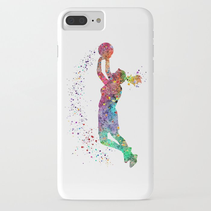 basketball girl player sports art print iphone case