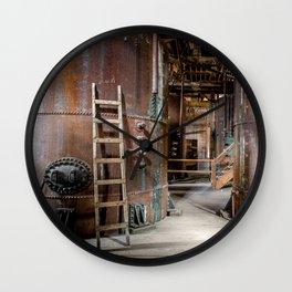 Abandoned machinery Wall Clock