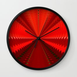 Red tunnel #1 Wall Clock