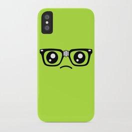 Sad little nerd. iPhone Case