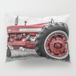 Vintage IH Farmall 450 Side View Selective Red Tractor Pillow Sham