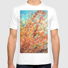 Trippin under a tree Mens Fitted Tee White MEDIUM