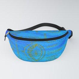 Berber Blue + Gold Fanny Pack