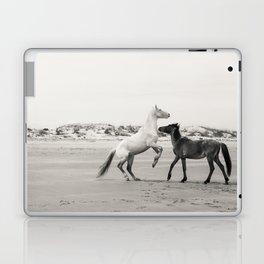 Wild Horses 5 - Black and White Laptop & iPad Skin