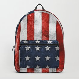 American Flag Stars and Stripes Distressed Grunge 4th. July Backpack