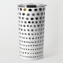 Black Dots II Travel Mug