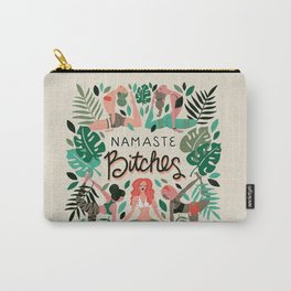 Namaste, Bitches – Green & Red Palette Carry-All Pouch