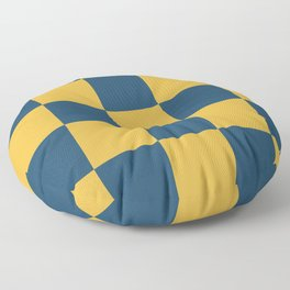 Timeless Trendy Checkerboard Leuce Floor Pillow