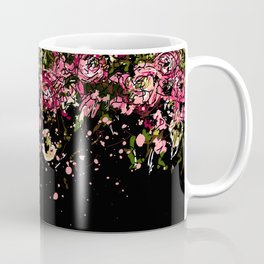 Black drooping flowers Coffee Mug