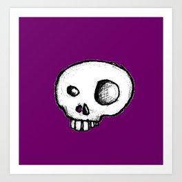 Purple King of Skulls Art Print