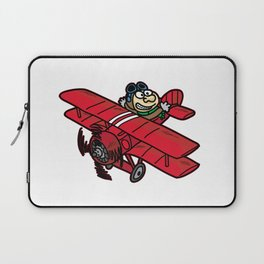 RED BARON AIR PILOT biplane airplane cartoon Laptop Sleeve
