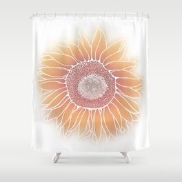 Mother Nature's Genius - White Outline Shower Curtain