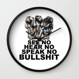 NO BULLSHIT 2 Wall Clock