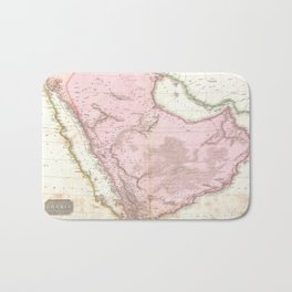 Vintage Map of Saudi Arabia (1818) Bath Mat
