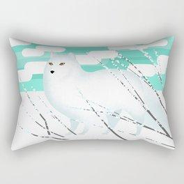 Arctic Fox - Cold but beautiful Rectangular Pillow