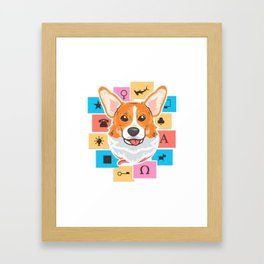 corgi life Framed Art Print