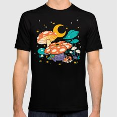 Goodnight Plume Black Mens Fitted Tee SMALL