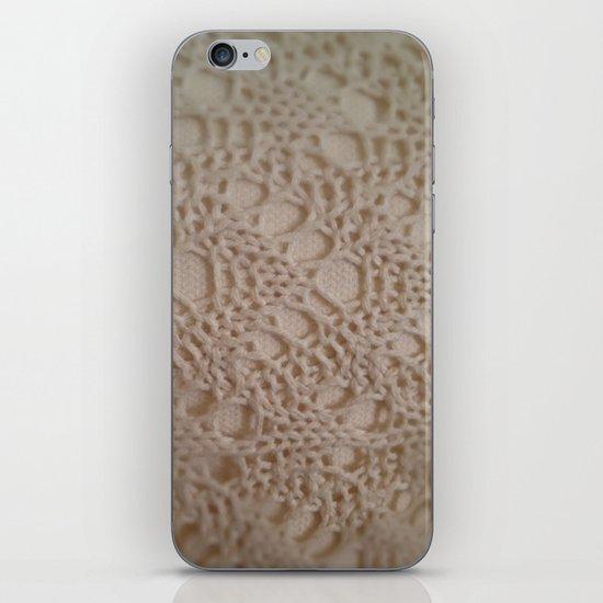 crochet cotton iPhone Skin