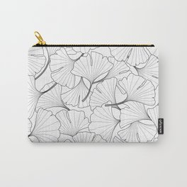 ginkgo leaves (white) Carry-All Pouch