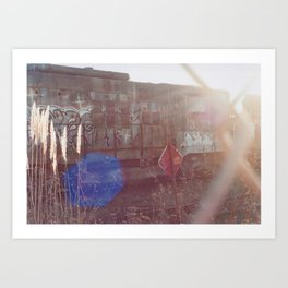 Through The Gate-Film Camera Art Print