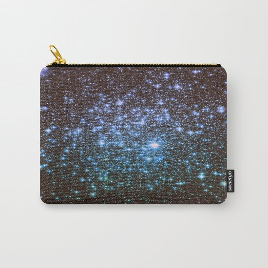 Winter Blues Galaxy Stars Carry-All Pouch