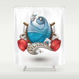 WCsaur Shower Curtain