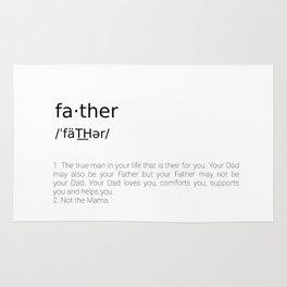 Father #minimalism Rug