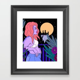 BALCONY DREAMING Framed Art Print