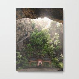 Cave Temple Metal Print