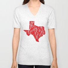 The Lone Star State - Texas Unisex V-Neck