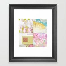 Choose HOPE collage Framed Art Print
