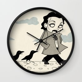 Edgar Allan Poe (Mother Raven) Wall Clock