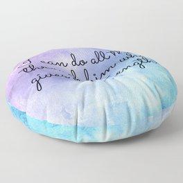 Philippians 4:13, Inspiring Bible Verse Floor Pillow