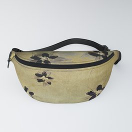 posies on vintage linen Fanny Pack