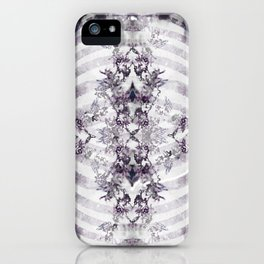 Floral Abstract Ribcage iPhone Case