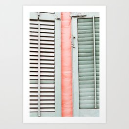 New Orleans Colorful Shutters Art Print