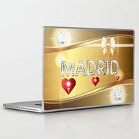 madrid Laptop & iPad Skins featuring Madrid 01 by Daftblue