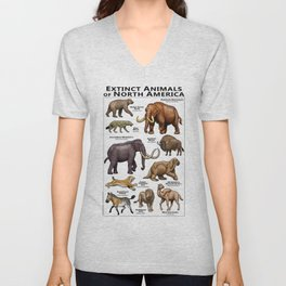 Extinct Animals of North America Unisex V-Neck