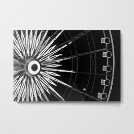 Black and White Neon Lights- 4 of 8 Metal Print