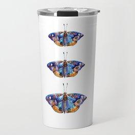 Watercolor Butterflies Butterfly Art Travel Mug