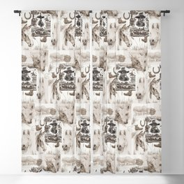 Country Western Blackout Curtain