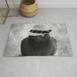 Cat with hat Rug