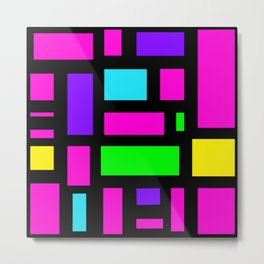 Multicoloured rectangle pattern Metal Print