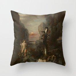 Gustave Moreau - Hercules and the Lernaean Hydra Throw Pillow