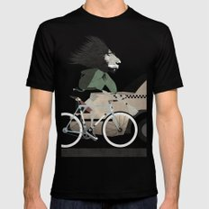 Alleycat Races Mens Fitted Tee SMALL Black