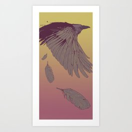 Electric Feathers Art Print